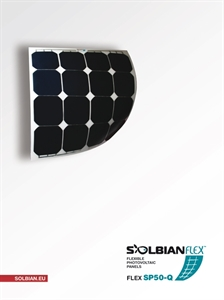 Picture of Kit pannello solare flessibile 50W Solbian SP50 Kit Solbian SP50Q 51W QUADRATO