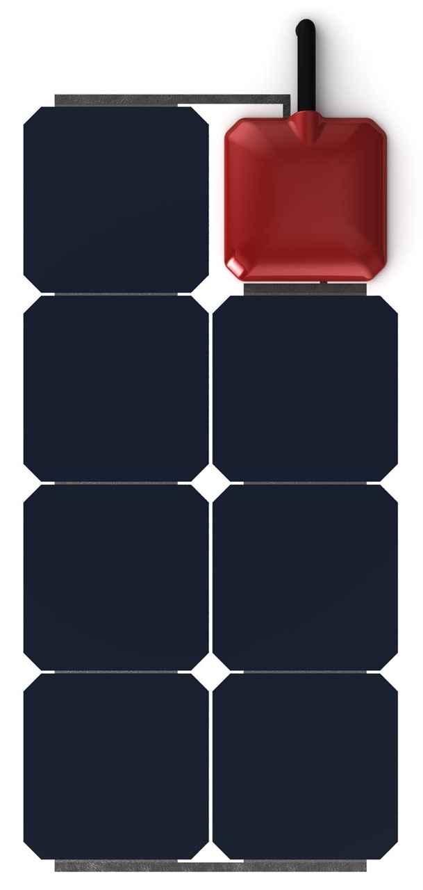 Pannello Solare Adesivo Flessibile : Pannello solare flessibile w solbian all in one sp