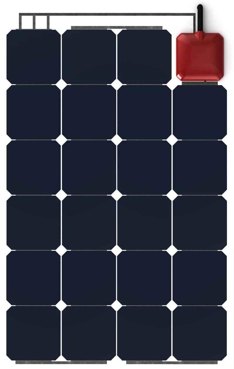 Pannello Solare Integrato Quality : Pannello solare flessibile w solbian all in one sp