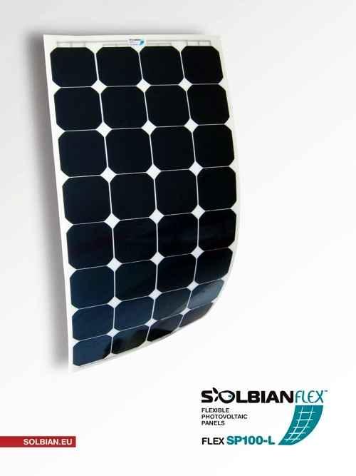 Kit Pannello Solare Flessibile 100w : Kit pannello solare flessibile w solbian sp