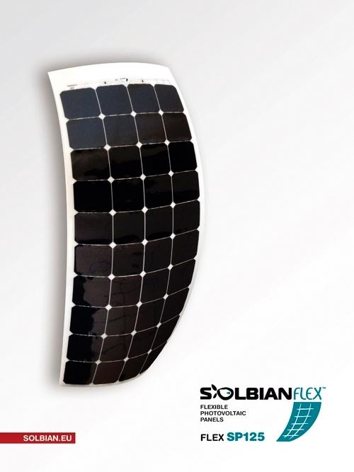 Pannello Solare Flessibile Kit : Kit pannello solare flessibile w solbian sp era