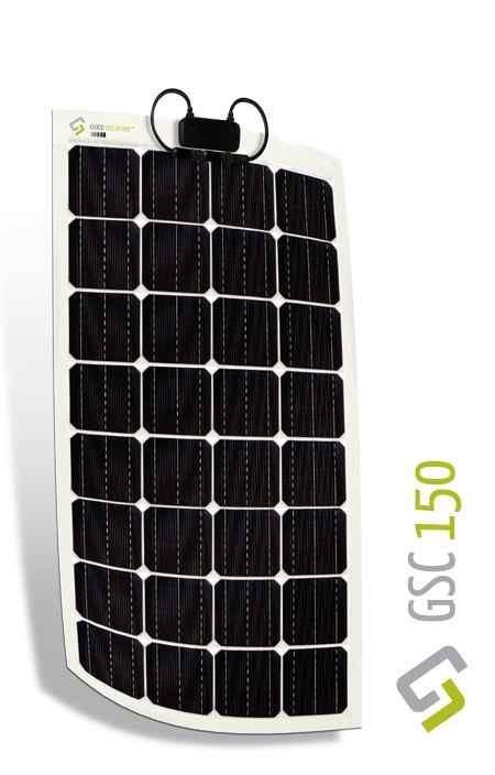 Kit Pannello Solare Camper 150w : Kit pannello solare flessibile w monocristallino gioco