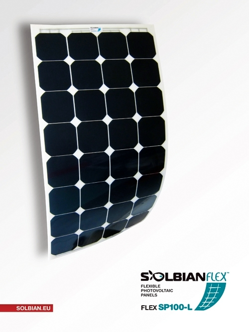 Pannello Solare Fotovoltaico Flessibile : Kit pannello solare flessibile w solbian sp
