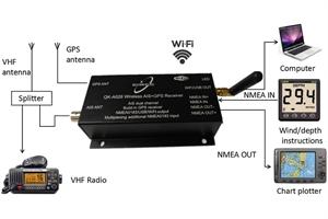 Immagine di AIS Ricevitore con GPS e Multiplexer WiFi A026